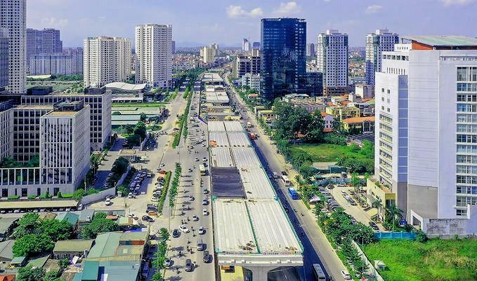 Tuyến đường Phạm Văn Đồng – Cầu cạn Vành đai 3 phía trước Dự án The Nine
