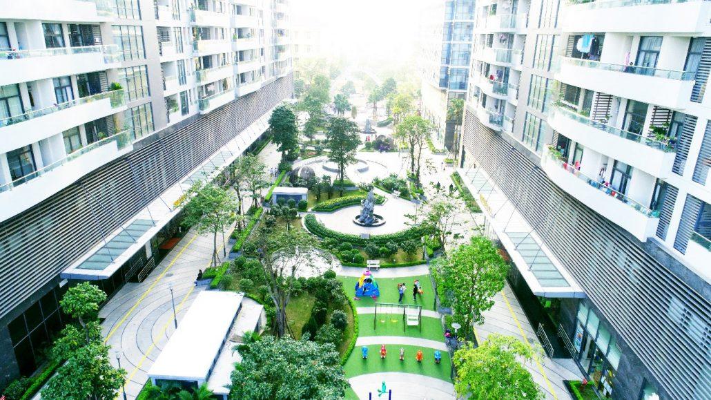 Cảnh quan Sân vườn Dự án Tràng An Complex